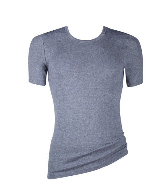 kurzarm Shirt Melange