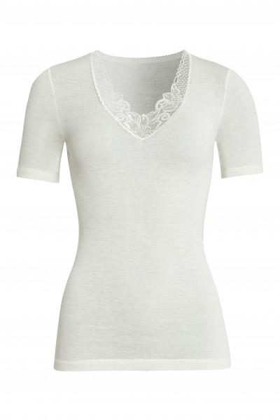 kurzarm Shirt Wolle/Modal