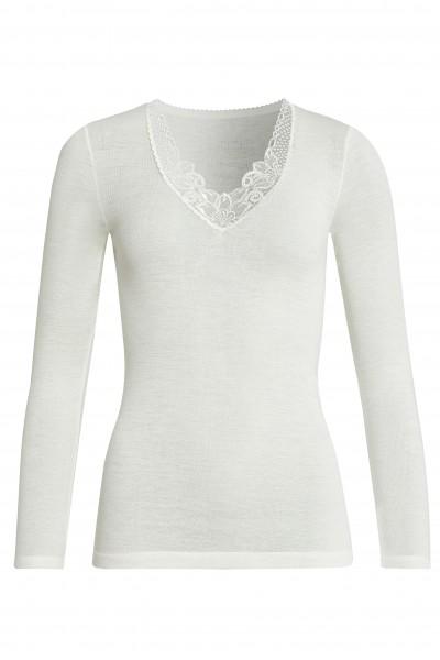langarm Shirt Wolle/Modal